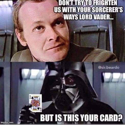 vader card lol
